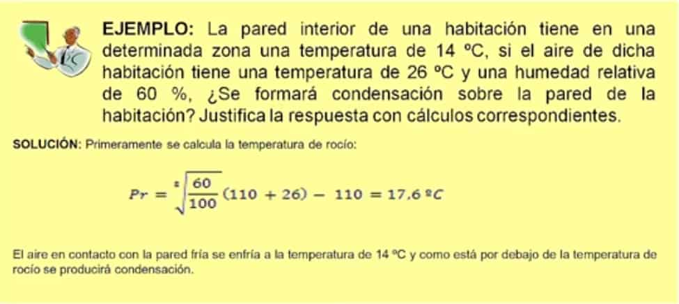 formula de humedad de rocio