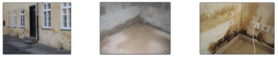 humedad en cimientos de una casa
